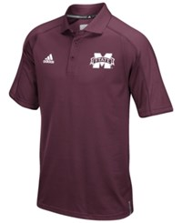 Adidas Men's Mississippi State Bulldogs Sideline Polo Shirt Maroon