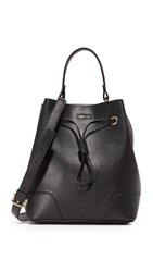 Furla Stacy Small Drawstring Bucket Bag Onyx