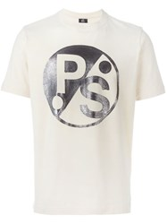 Paul Smith Ps Faded Logo Print T Shirt Nude And Neutrals