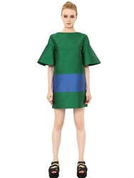 Space Style Concept Two Tone Techno Duchesse Dress Green Blue