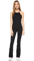 3X1 Halter Jumpsuit Black Water
