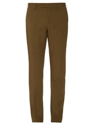 Incotex Slim Fit Cotton Blend Chino Trousers Brown