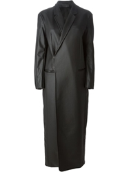 A.F.Vandevorst Faux Leather Coat Black