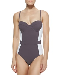 Tory Burch Lipsi Colorblock One Piece Swimsuit