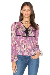 Auguste Boho Is Best Sheer Top Purple