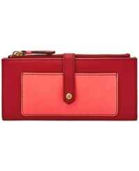 Fossil Keely Tab Clutch Red Multi