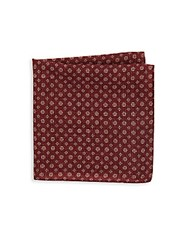 Saks Fifth Avenue Textured Floral Print Wool Pocket Square