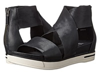 Eileen Fisher Sport Black Tumbled Leather Women's Sandals