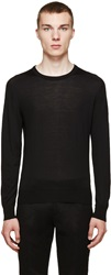 Versace Black Light Wool Sweater