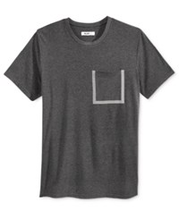 William Rast Men's Pocket T Shirt Dark Gray