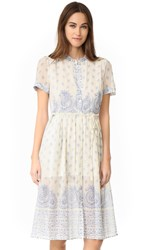 Sea Jane Border Print Dress Cream