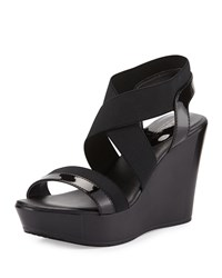 Charles By Charles David Feature Elastic Wedge Sandal Black