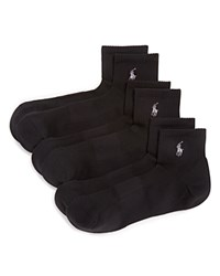 Ralph Lauren Quarter Sport Socks Pack Of 3 Black