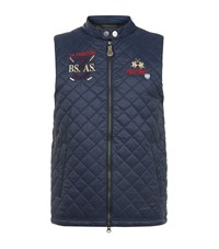 La Martina Quilted Gilet Male Navy