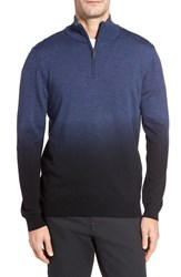 Bugatchi Men's Ombre Quarter Zip Sweater Navy