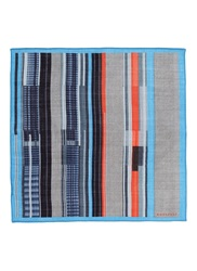 Boglioli Variegated Stripe Wool Silk Pocket Square