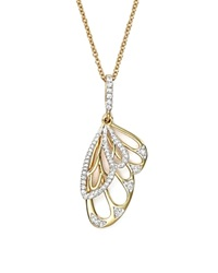 Bloomingdale's Diamond Wing Pendant Necklace In 14K Yellow Gold .20 Ct. T.W.
