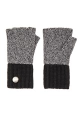Marc By Marc Jacobs Patchwork Wool Gloves Gray