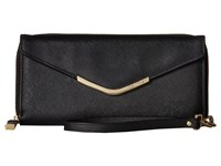 Calvin Klein Saffiano Wallet Black Gold Wallet Handbags