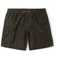 Sundek Rainbow Mid Length Swim Shorts Army Green