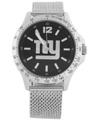 Game Time New York Giants Cage Series Watch Silver Black