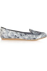Charles Philip Lizzette Printed Satin Loafers