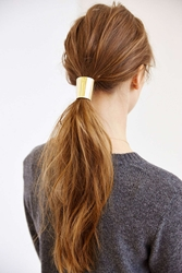 Urban Outfitters Metal Mania Ponytail Holder Gold