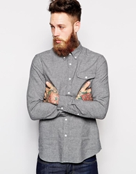 Asos Shirt In Long Sleeve With Twist Yarn Grey