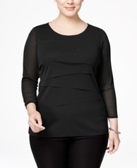 Alfani Plus Size Tiered Top Only At Macy's Deep Black
