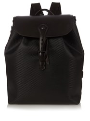 Dunhill Chassis Leather Backpack Black