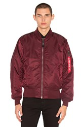 Alpha Industries Ma 1 Bomber Jacket Red