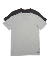 Under Armour 2 Pack V Neck Undershirts Grey
