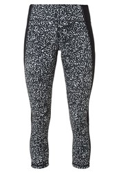 Under Armour 3 4 Sports Trousers Black White Silver