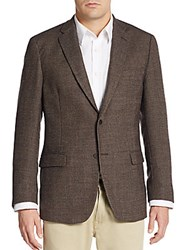 Tommy Hilfiger Regular Fit Hopsack Wool Sportcoat Brown