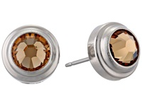 Alex And Ani Light Topaz Clarity Sacred Studs Post Earrings Silver Plated Earring
