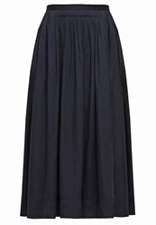 Banana Republic Maxi Skirt Preppy Navy Dark Green