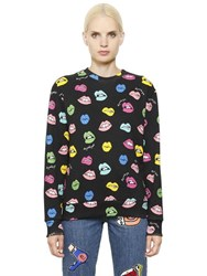 Au Jour Le Jour Multicolor Lip Printed Cotton Sweatshirt