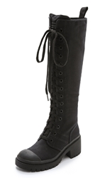 Marc By Marc Jacobs Tall Army Boots Black Black