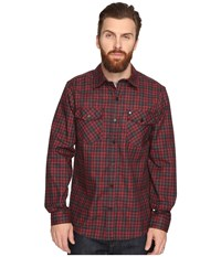Hurley Cascade Dri Fit Flannel Team Red Men's Clothing Multi