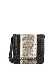 Dannijo Lypton Snake Embossed Leather Crossbody Bag Nero