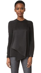 Victoria Beckham Double Fold Top Black