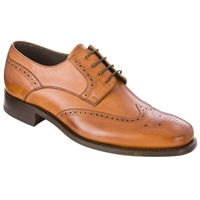 Barker Toddington Leather Brogue Shoes Tan
