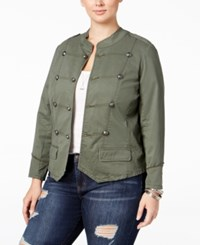 American Rag Trendy Plus Size Military Jacket Only At Macy's Dusty Olive