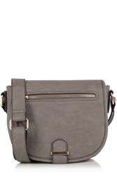 Oasis Sienna Saddle Bag Grey