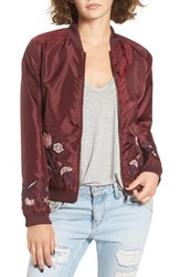 Fire Women's Embroidered Bomber Zinfandel