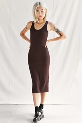 Urban Renewal Rib Knit Midi Dress Chocolate