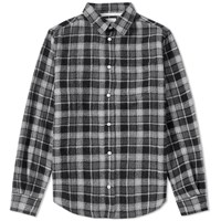 Norse Projects Anton Loose Weave Check Shirt Grey