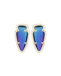 Kendra Scott Skylette Iridescent Crystal Earrings Black