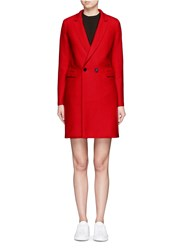 Harris Wharf London Double Breasted Wool Coat Red