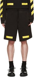 Off White Black And Yellow Arrows Shorts